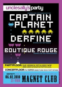 Captain Planet / Boutique Rouge / Derfine – Blick zurück